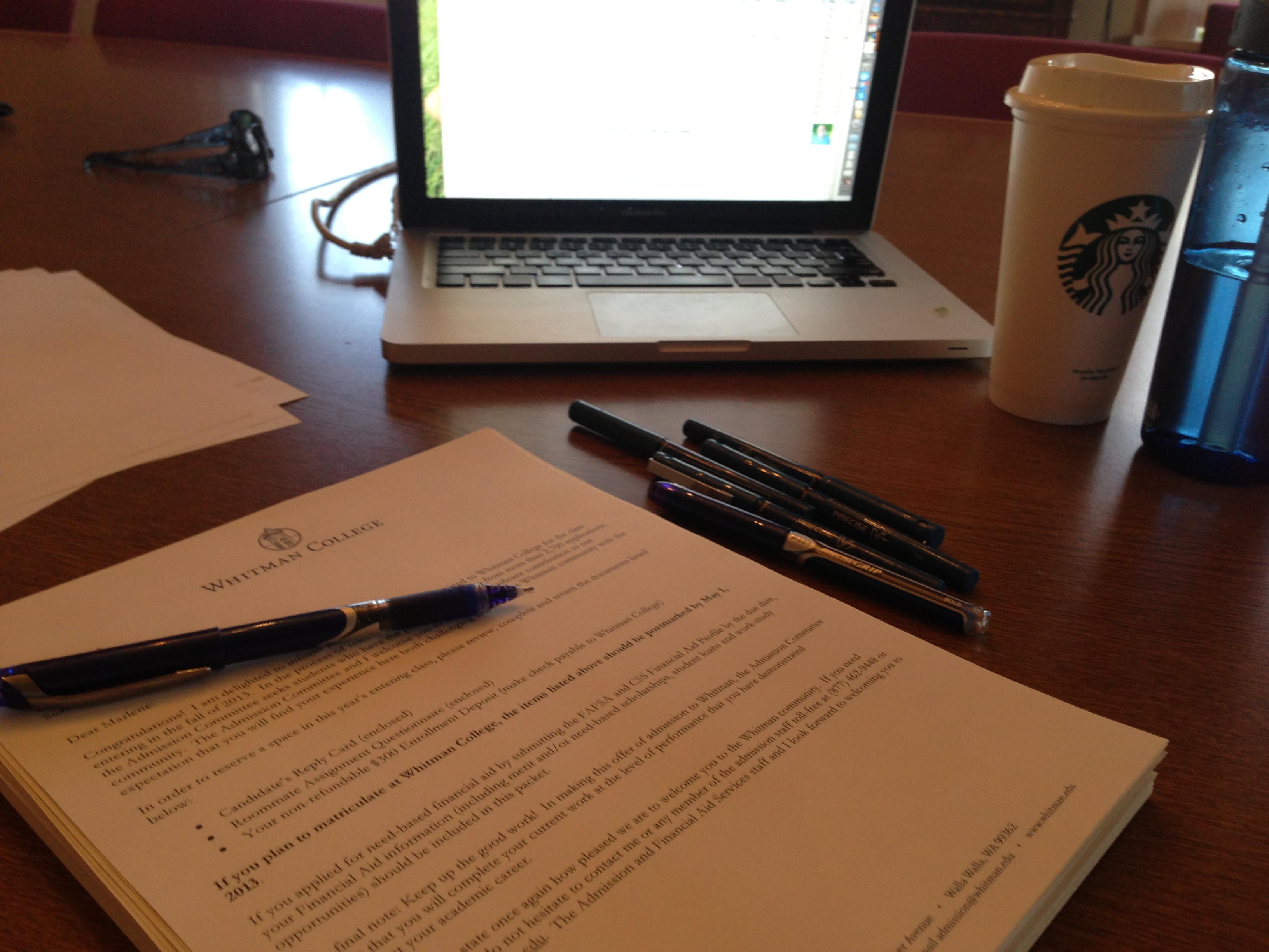 Whitman college application essay